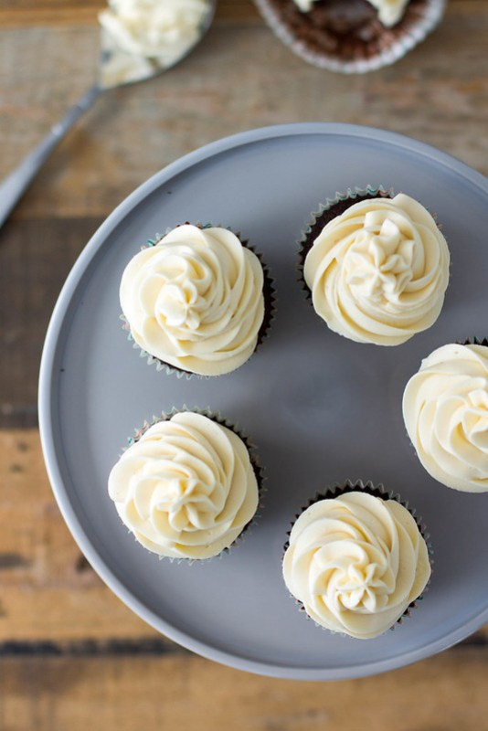 chocolate stout cupcakes with irish cream frosting
