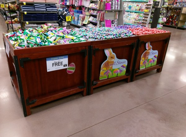 Kroger Easter candy, in re-purposed produce bins | For the ...