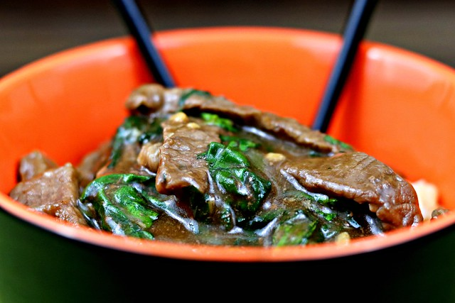 Korean Beef Stir Fry Front Close