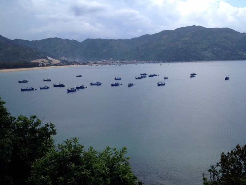 boats in dai lanh bay in vietnam