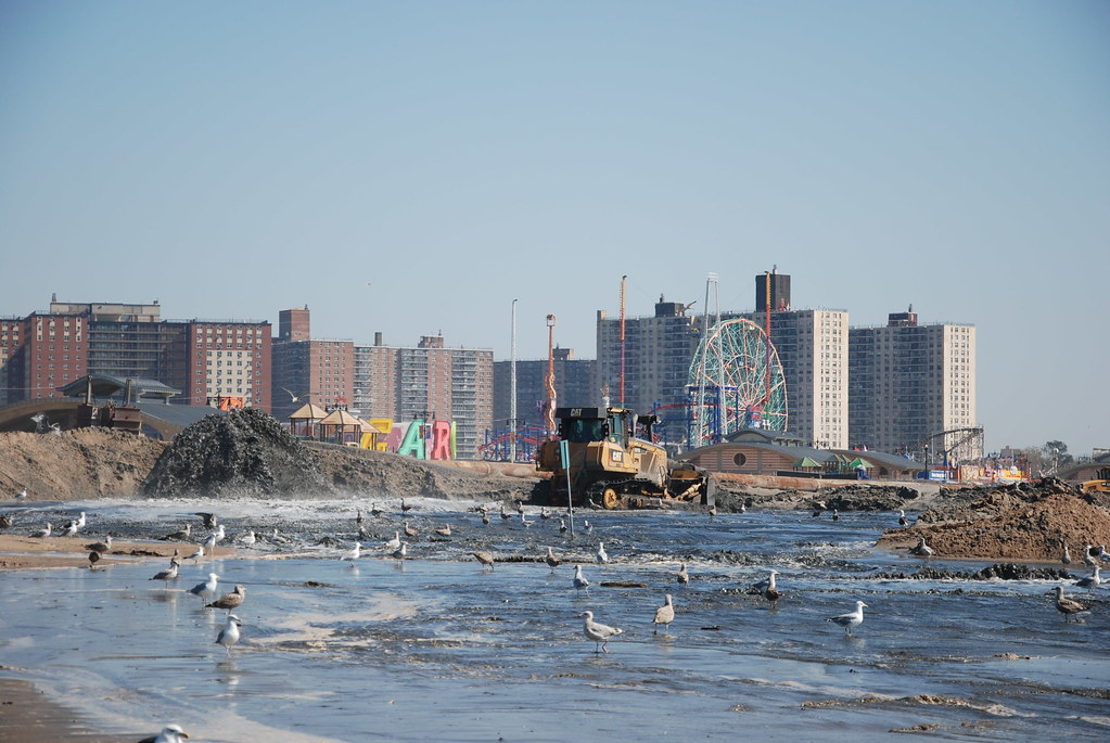 Coney Island Post Sandy Beach Restoration Repair And Rest