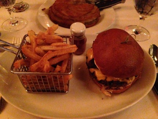 Hamburger and French Fries, chJeff Ruby's Steakhouse, Cincinnati OH