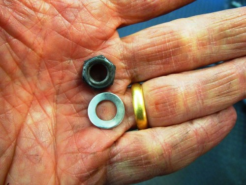 Damper Rod Bottom Nut & Washer