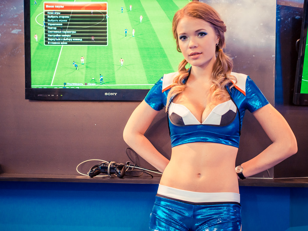 PES Promo Girl At Igromir 2013 Russian Gaming Expo