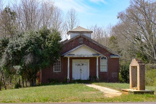 Old Eastview Baptist Church in Pelzer