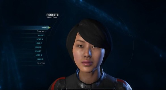 Mass Effect Andromeda - Female Head 1