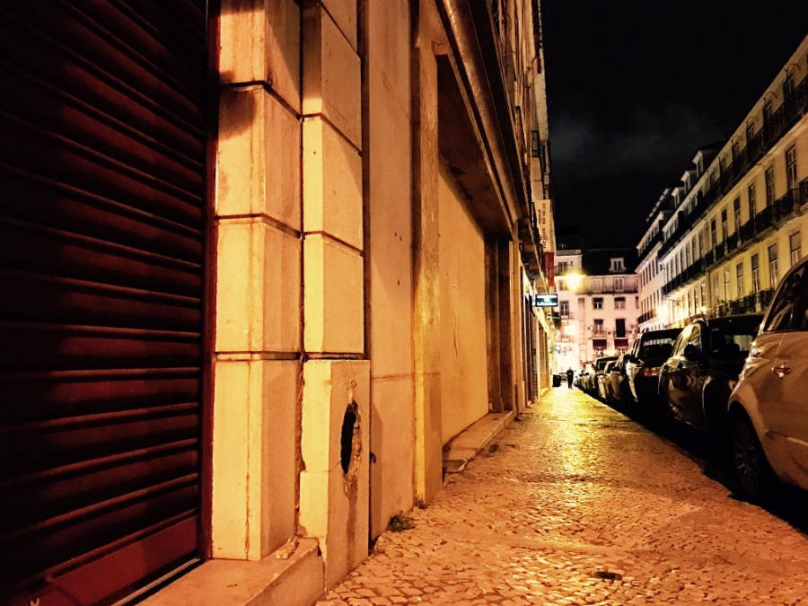 streets of lisbon at night
