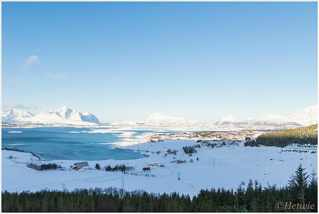 uitzicht over Mortsund.
