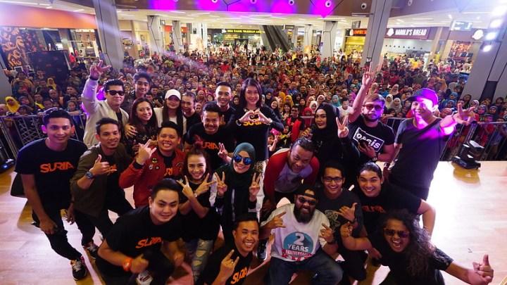 Keriuhan Gabungan PenyampaI SURIA FM Artis Lama & Artis Baru Di Pulau Pinang