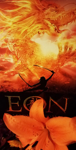 Eon book with Tiger Lily flower