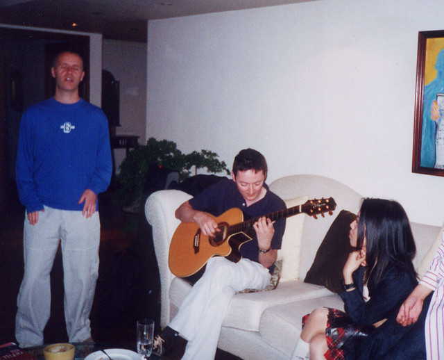 The Lotus Eaters and I at Tito Greg's apartment