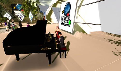 Ari on piano