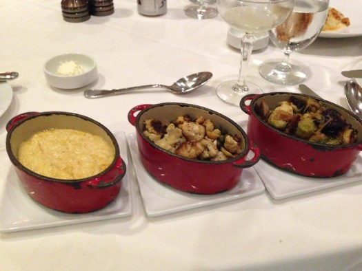 Grits and Brussels Sprouts and Roasted Cauliflower at Seafood R'evolution, Jackson MS