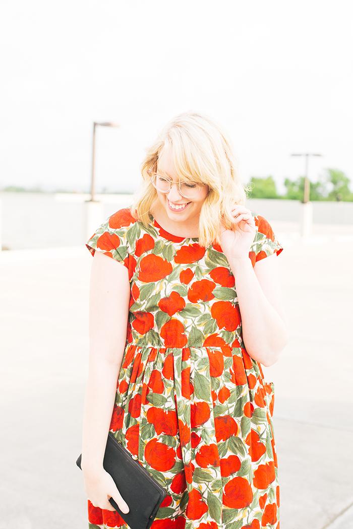 austin fashion blogger spring wedding outfit vintage dress13
