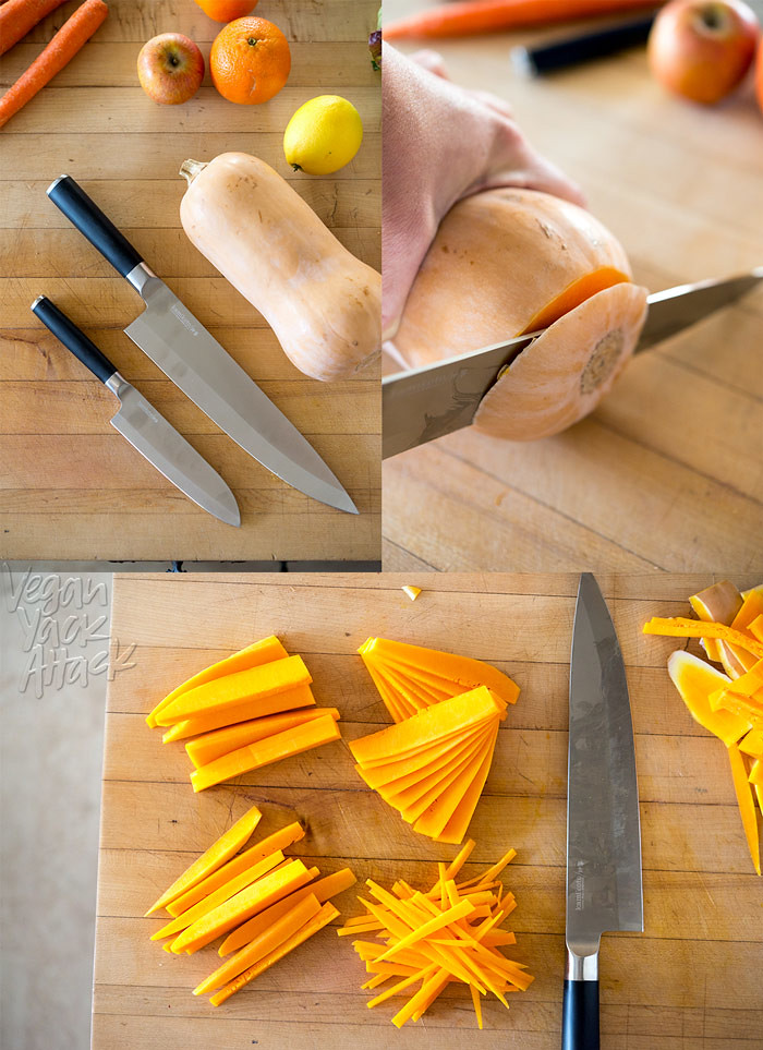 An in-depth review of the Senshi Kamikoto Knife Set - a chef's knife and utility knife, made of Niigata steel - complete with many photos and tips. #kamikoto #review #knifeskills