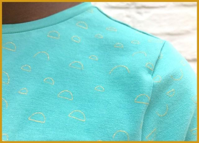 chat chocolat - spin dress (close-up)