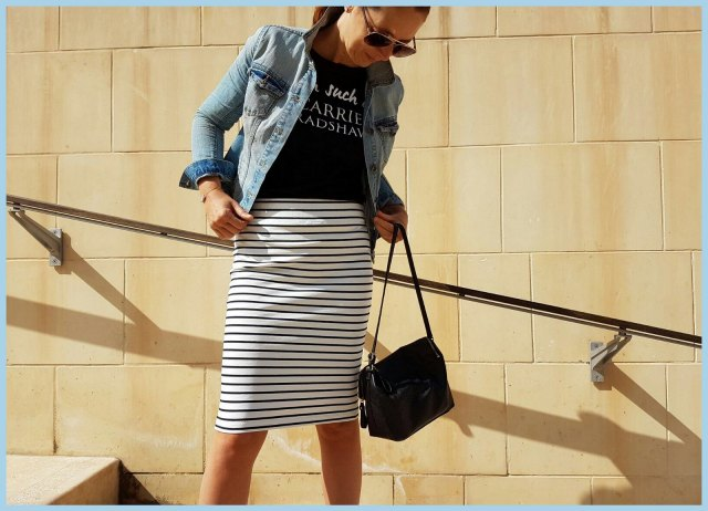 striped pencil skirt 1