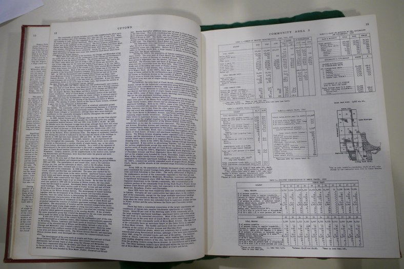 Uptown community area page in the 1950 Local Community Fact Book
