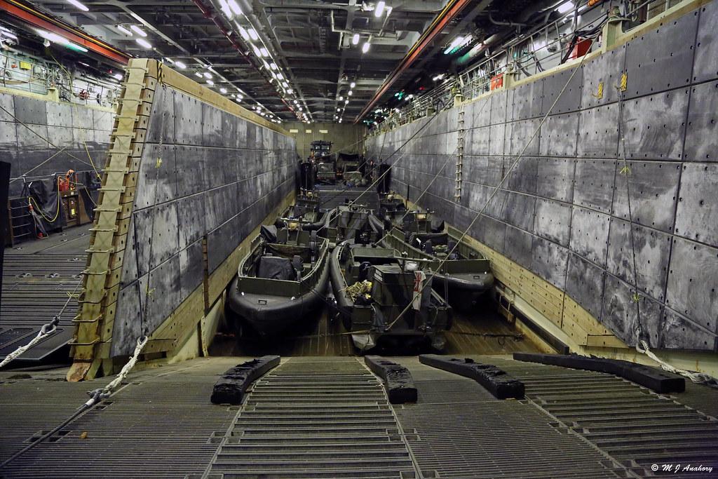 Royal Navys HMS Bulwark L15 Landing Craft Compartment