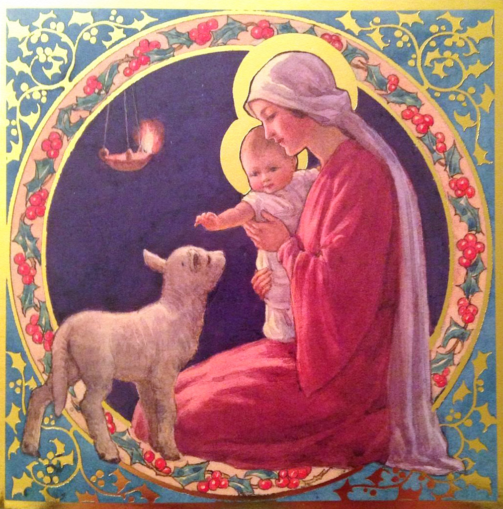 Margaret Tarrant Christmas Card Madonna And Child With