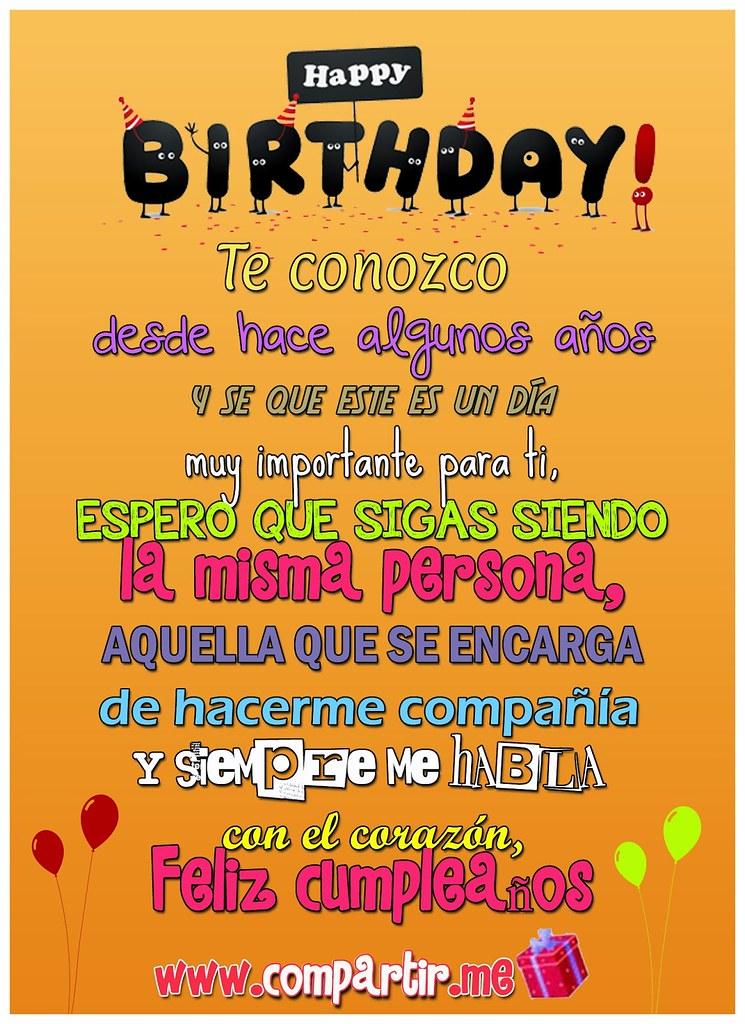 Write a note in the text box above. Tarjeta de feliz cumpleaños para dedicar a una amigo o ami… | Flickr