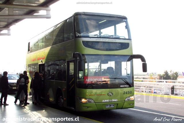 Tur Bus Aeropuerto | Aeropuerto Santiago SCL | King Long XMQ 6110 GS2 / FPDW14 - 2450