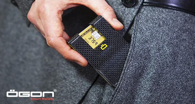 Ögon y el tarjetero 3C es una cartera masculina donde caben hasta 7 tarjetas