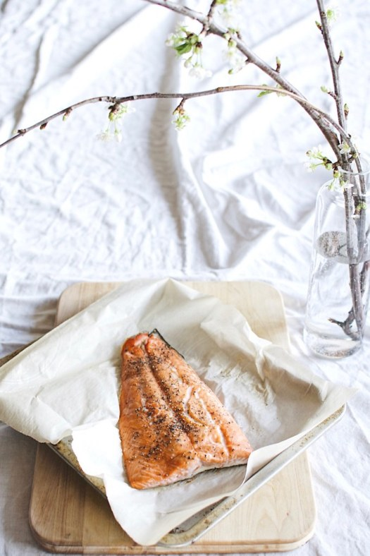 baked wild salmon filet