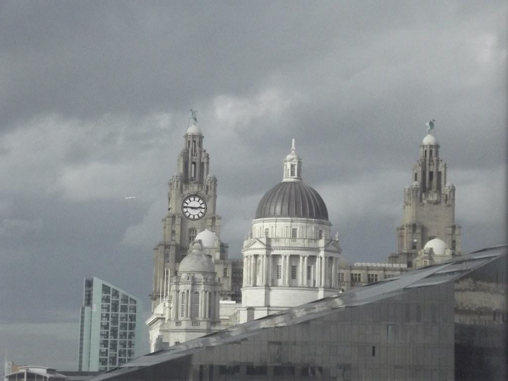 Liverpool Window View Royal Liver Building Amp Port Of Liv