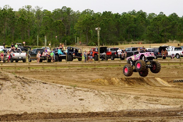 Mad Mo with Demolition Diva Pro Mini Monster Trucks Doing Her Thing at Charlotte County Spring Festival & Race Day at Muddy Water Sports Park, Punta Gorda, Fla., April 22, 2017