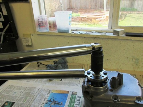 Using 2 Fork Tubes to Separate Output Flange from Output Shaft Taper