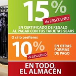 Beneficios y Promociones en ALMACENES SEARS el salvador - 01ago14