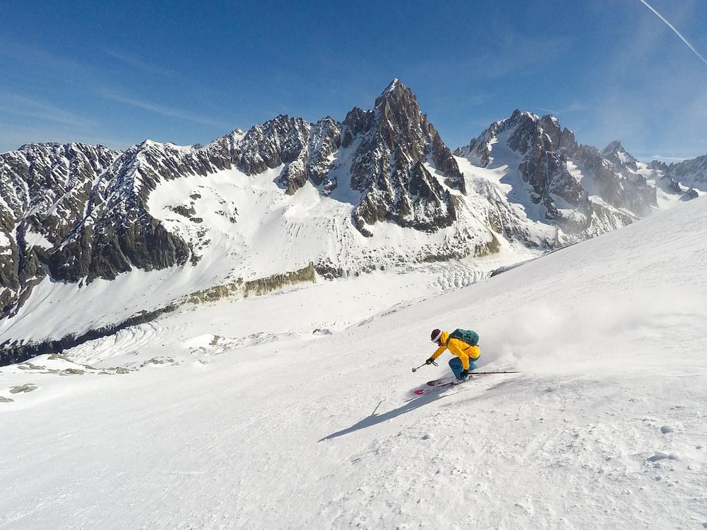 Argentière Glacier skiing
