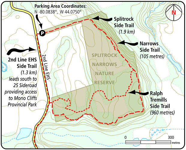 Splitrock Side Trail Map