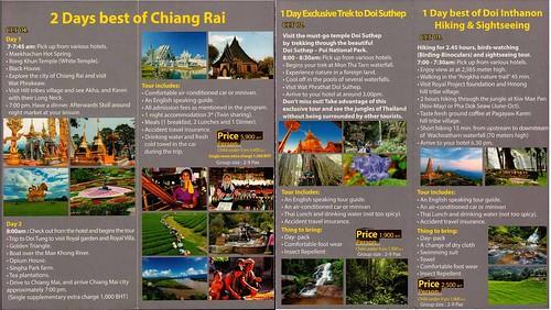 Brochure Chiang Mai Local Tours Chiang Mai Thailand 2