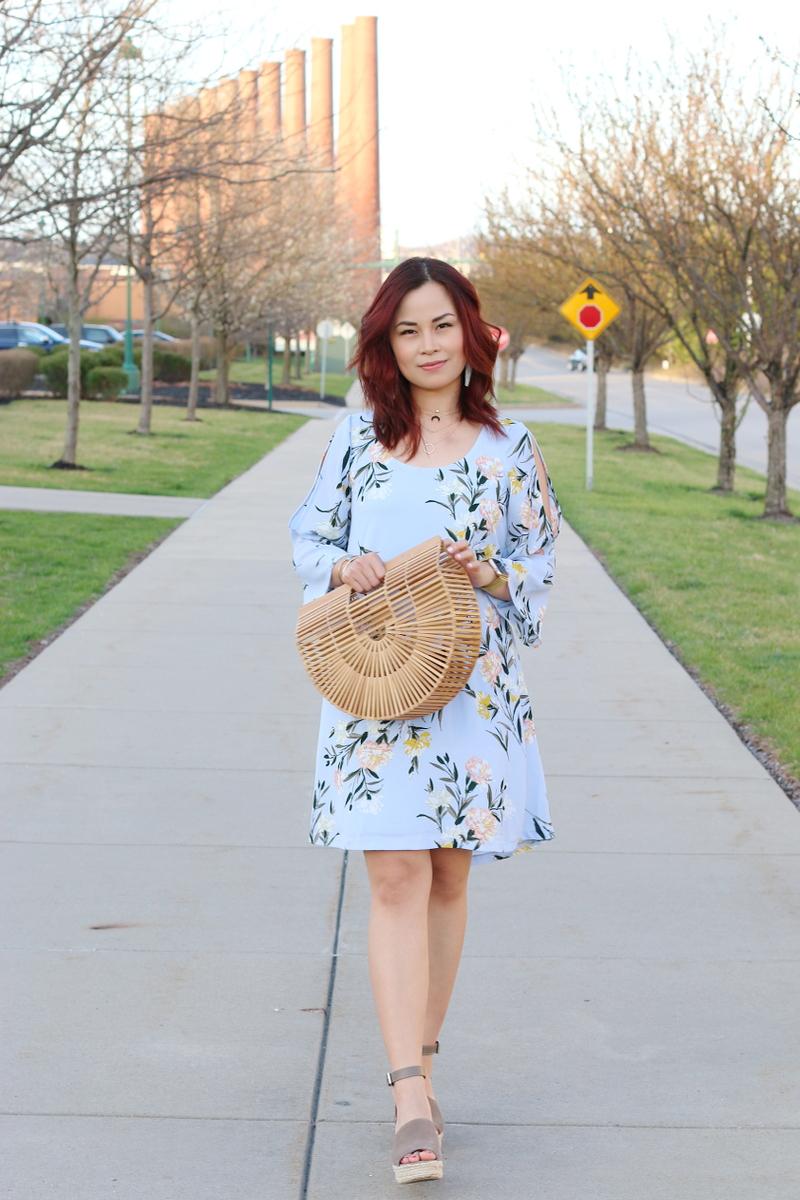 spring-floral-dress-wooden-ark-bag-wedges-9
