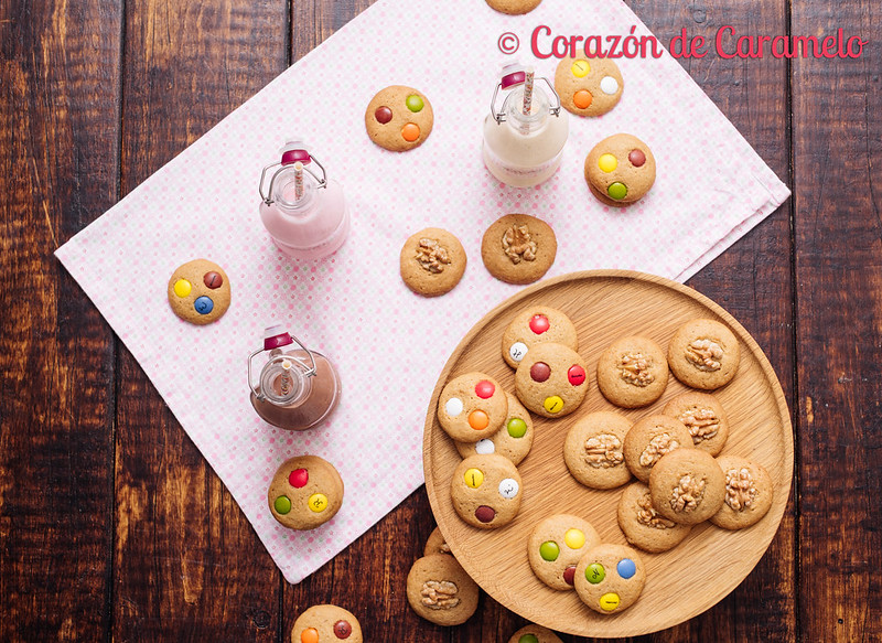 Galletas con Lacasitos y Frutos Secos
