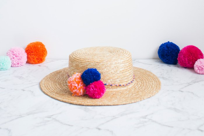 Straw Hat DIY