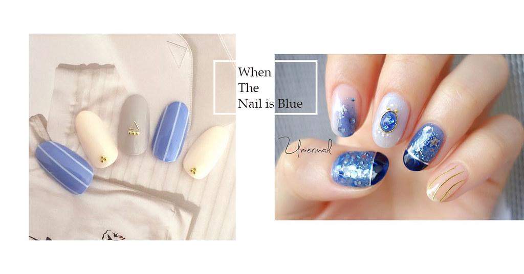 """♥ 春季時裝的手!""""藍色指甲""""的設計指南 3"""