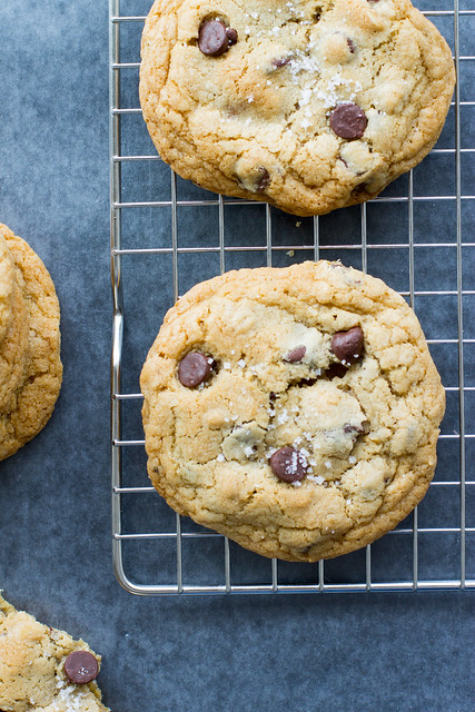 Salted caramel adds a delicious twist to chocolate chip cookies - easy to make, easy to love!