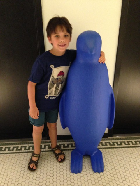 Shugie and Blue Penguin at Lexington KY 21c Museum Hotel