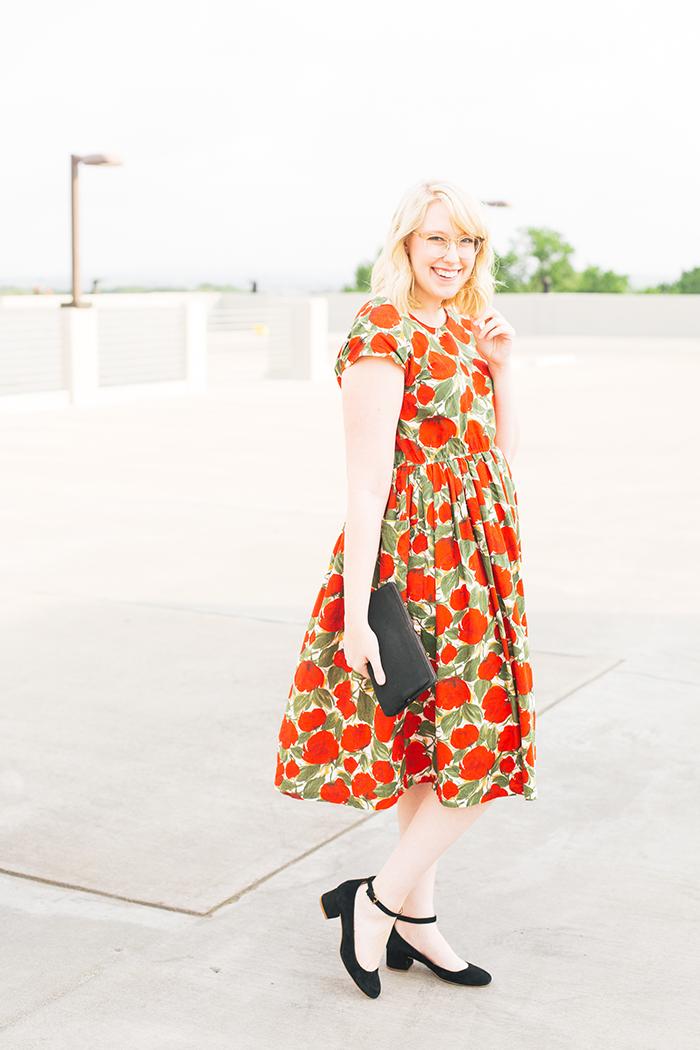 austin fashion blogger spring wedding outfit vintage dress16