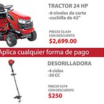 Tractor 24 HP desgramador  CRAFTMAN - 04qgo14