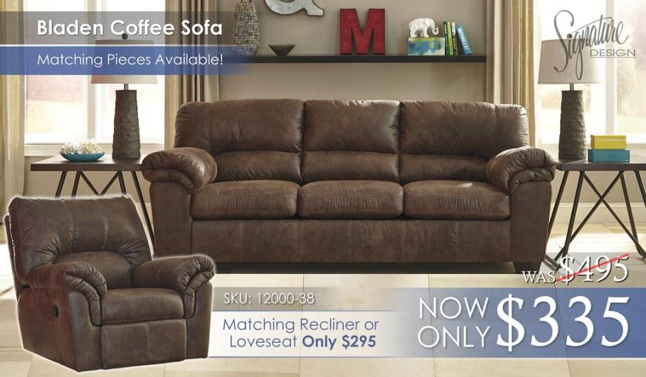 Bladen Coffee Sofa wRecliner Insert 12000-38-SET