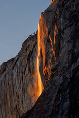 Horsetail Falls at Sunset