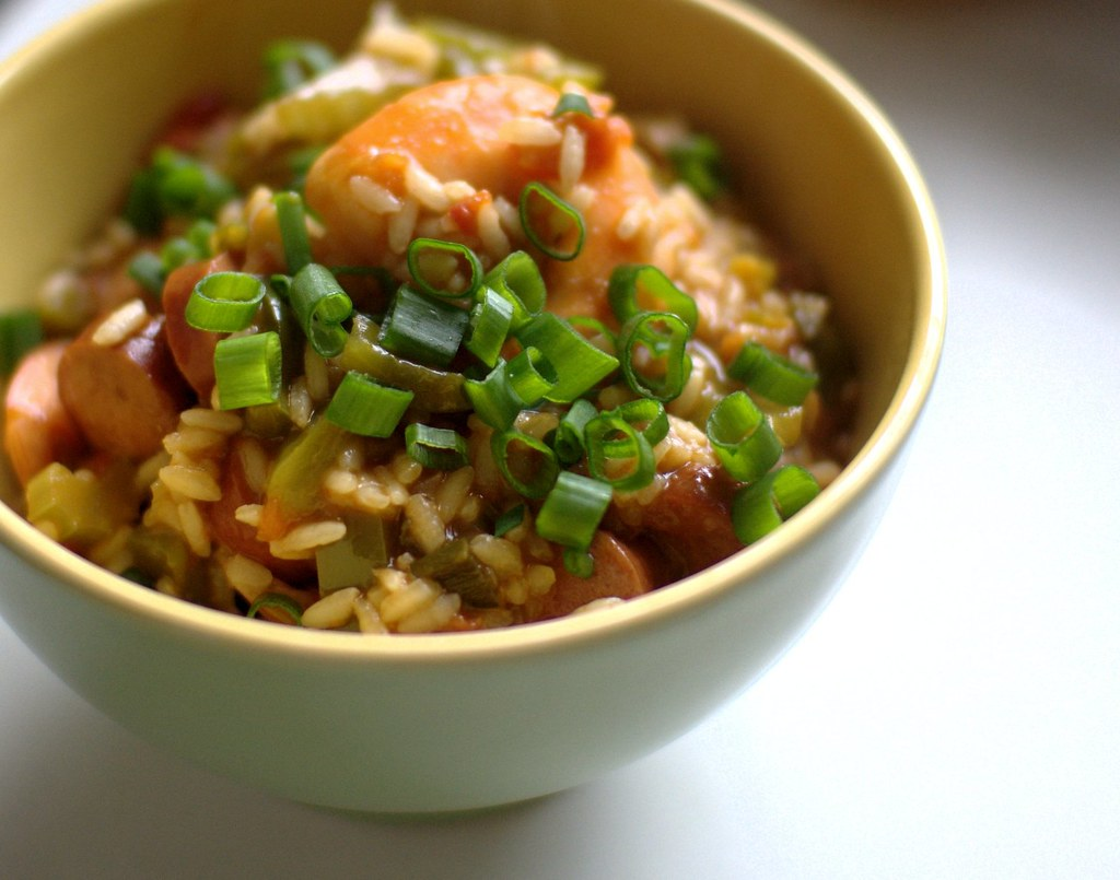 Image result for CHICKEN, SAUSAGE AND SHRIMP JAMBALAYA
