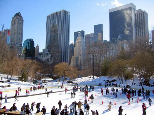 Ice skating at Wollman Rink, New York City