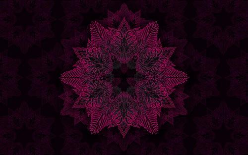 008080901 Mandala Estrella De Las Palmas Wallpaper