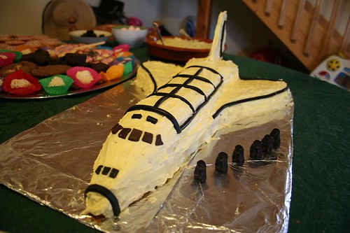 Space Shuttle Cake 3 Edgar S 4th Birthday Cake With