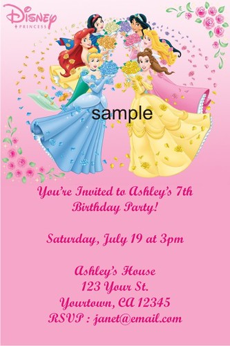Personalized disney invitations inviview personalized disney princess invitations custom photo in flickr stopboris Image collections